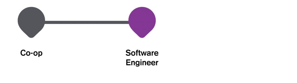 Infographic IT career path to software developer